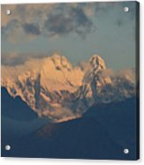 Stunning Landscape In The Italian Alps With A Cloudy Sky  Acrylic Print