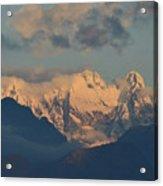 Stunning Landscape View Of The Italian Alps  Acrylic Print