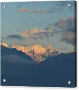 Stunning Scenic View Of The Dolomites Mountains In Italy  Acrylic Print