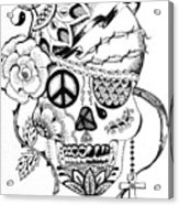 Sugar Skull #3  War And Peace Acrylic Print