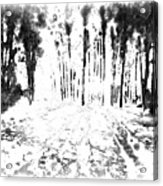 Sumie Landscape Acrylic Print