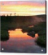 Summer Sunrise In Maine Acrylic Print