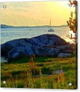 Summer Sunset View Acrylic Print