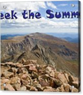 Summit Of Mount Bierstadt In The Arapahoe National Forest Acrylic Print