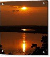 Sun Setting On The Nile Acrylic Print