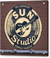Sun Studio Memphis Tennessee Acrylic Print by Wayne Higgs