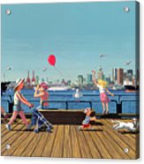 Sunday Morning Lonsdale Quay Acrylic Print by Neil Woodward