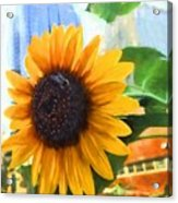 Sunflower In The City Acrylic Print