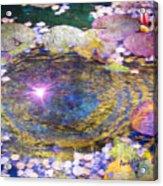 Sunglint On Autumn Lily Pond II Acrylic Print