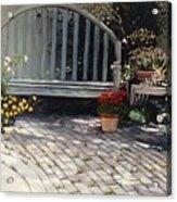 Sunlit Courtyard Acrylic Print