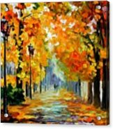 Sunny October Acrylic Print