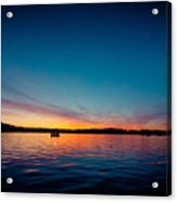 Sunrise Above Lake Water Summer Time Latvia Ezera Skanas Acrylic Print