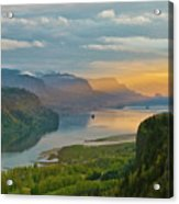 Sunrise At Columbia River Gorge Acrylic Print