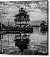 Sunrise At Drum Point Lighthouse Acrylic Print