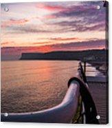 Sunrise At Saltburn Pier Acrylic Print