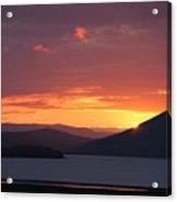 Sunrise Between Two Mountains Acrylic Print