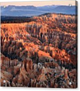 Sunrise In Bryce Canyon Acrylic Print