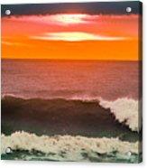 Sunrise Kissing Surf Acrylic Print