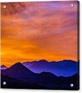 Sunrise Over Colorado Rocky Mountains Acrylic Print