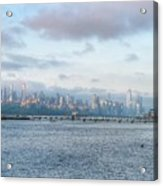 Sunrise Over New York City Acrylic Print