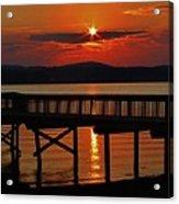 Sunrise Over The Pier Acrylic Print