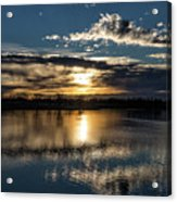 Sunrise Reflections On The Great Plains Acrylic Print