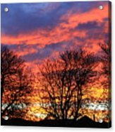 Sunset And Filigree Acrylic Print