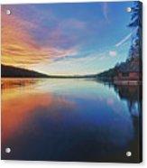 Sunset At Fallen Leaf Lake Acrylic Print by Jacek Joniec