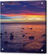 Sunset At Mauritius Acrylic Print