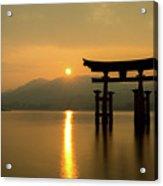 Sunset At Miyajima's Torii Acrylic Print