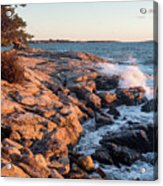 Sunset At Ocean Point, East Boothbay, Maine  -230204 Acrylic Print