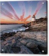 Sunset, Castle Hill Lighthouse  Acrylic Print