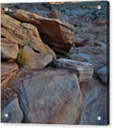 Sunset Comes To Valley Of Fire Acrylic Print