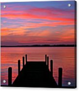 Sunset Dock Acrylic Print