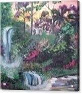 Sunset Falls Acrylic Print