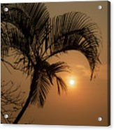 sunset Huong river Acrylic Print