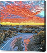Sunset In El Prado Acrylic Print