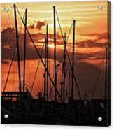 Sunset In Masts, South Fl. Acrylic Print