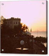 Sunset In Sorrento Acrylic Print