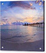 Sunset Naples Pier Florida Acrylic Print