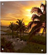 Sunset On Grace Bay Acrylic Print