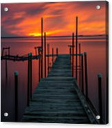 Sunset On The Bay Acrylic Print