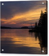 Sunset On The Chippewa Acrylic Print