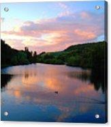 Sunset Over A Lake Acrylic Print