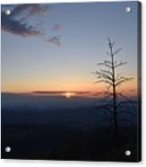 Sunset Over Kings Canyon In The Southwest Sierra Nevadas Acrylic Print