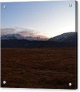 Sunset Over The Eastern Sierra Nevadas Acrylic Print
