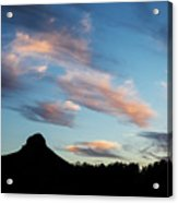 Sunset Over Thumb Butte Acrylic Print