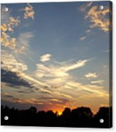 Sunset Sky Over Ohio Acrylic Print