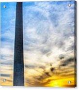 Sunset Washington Monument Acrylic Print