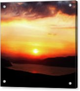 Sunsetting Over Portree, Isle Of Skye, Scotland No.2. Acrylic Print